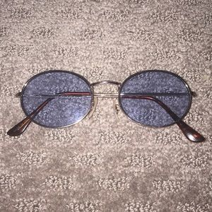 Oval blue lenses free people sunglasses